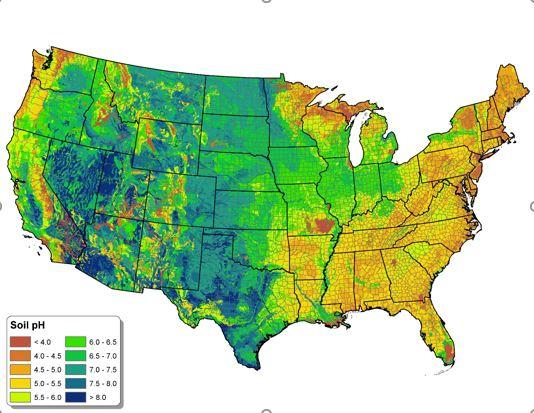 Soil pH map USA