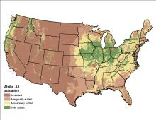 Alsike Clover - Climate and Soil Map